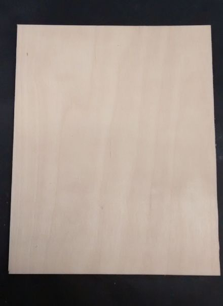 BIRCH PLYWOOD SCROLL SAW/ PYROGRAPHY/ CRAFTS BLANK 3-4MM 1/8 THICK
